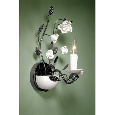 Laura Ashley Home Chantilly One Light Wall Sconce in Gun Metal