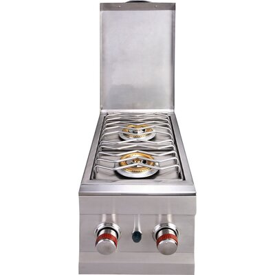 Sunstone Grills Slide-in Natural Gas Double Side Burner