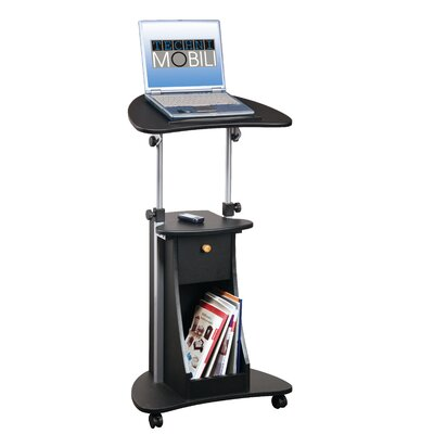 Deluxe Rolling Laptop Cart with Storage