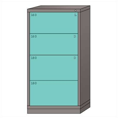 "Lyon Workspace Products Eye-Level High Standard Cabinet with 4 Drawers: 30"" W x 28 1/4"" D x 59 1/4"" H"