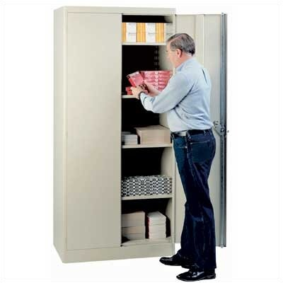 Lyon Workspace Products 1000 Series 36&quot; Wide Storage Cabinet: 78&quot; H  x 36&quot; W x 24&quot; D