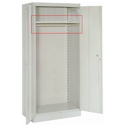 Lyon Workspace Products Extra Shelf with Coatrod for 36&quot; W x 18&quot; D Wardrobe Cabinets