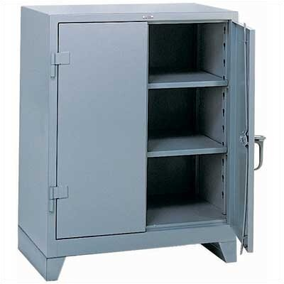 "Lyon Workspace Products All-Welded Storage Cabinet with 2 Shelves: 42 "" H x 36"" W x 21"" D"