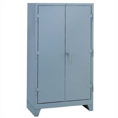 Lyon Workspace Products All-Welded Storage Cabinet with 3 Shelves: 60 &quot; H x 36&quot; W x 21&quot; D