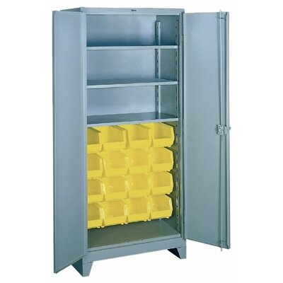 Lyon Workspace Products Shelf/Bin Cabinet: 82&quot; H x 36&quot; W x 21&quot; D