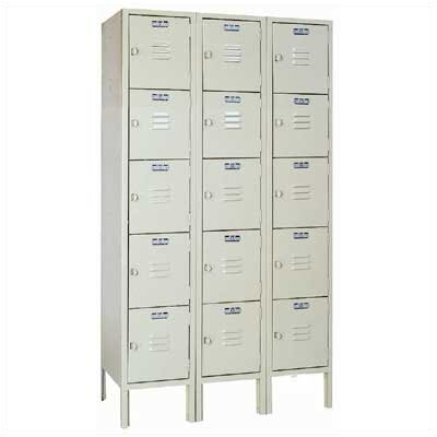 Lyon Workspace Products Five Tier Locker - 3 Sections (Unassembled)