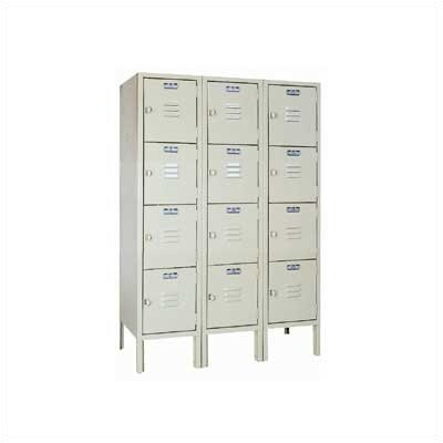 Lyon Workspace Products Four Tier Locker -3 Sections (Unassembled)