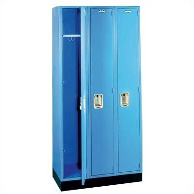 Lyon Workspace Products Quiet Door Locker - Single Tier - 3 Sections - No Legs or Louvers (Unassembled)