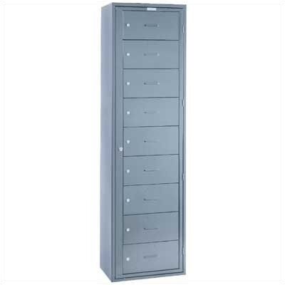 Lyon Workspace Products 9 Compartment ExchangeMaster Locker - 1 Section (Assembled)