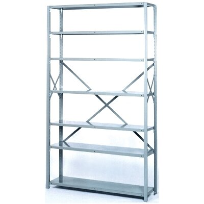 "Lyon Workspace Products 8000 Series 42"" Wide  Open Shelving - 7 Heavy-Duty Shelves: 84"" H x 42"" W x 24"" D"