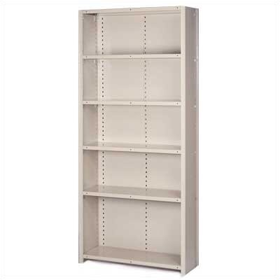 Lyon Workspace Products 8000 Series Closed Shelving - 6 Shelves: 84&quot; H x 36&quot; W x 12&quot; D