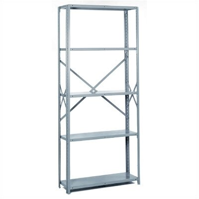 Lyon Workspace Products 8000 Series: Open Offset Angle Shelving (Medium-Duty): 84&quot; H x 36&quot; W x 18&quot; D