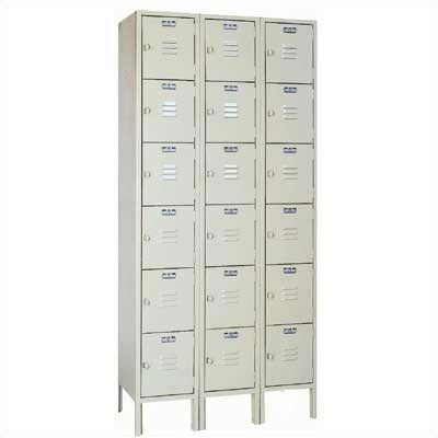Lyon Workspace Products Six Tier Locker - 3 Sections (Unassembled)