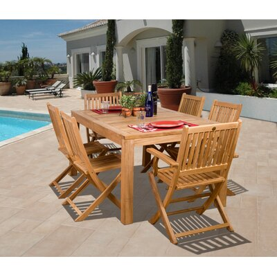 International Home Miami Amazonia Brasilia 7 Piece Dining Set