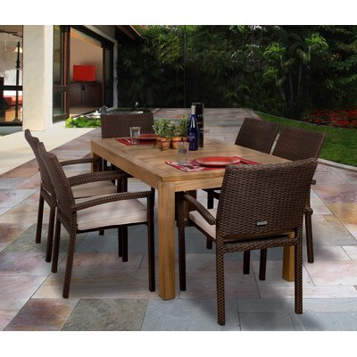 International Home Miami Amazonia Brownsville 7 Piece Dining Set