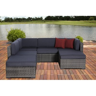 International Home Miami Atlantic 6 Piece Deep Seating Group with Cushions