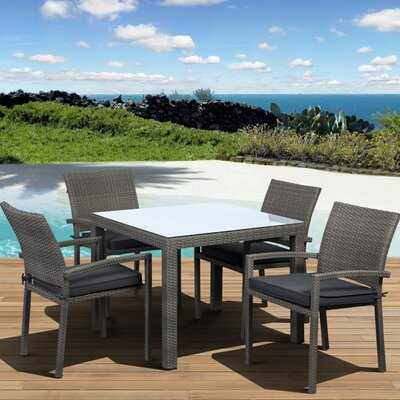 International Home Miami Atlantic Liberty 5 Piece Dining Set