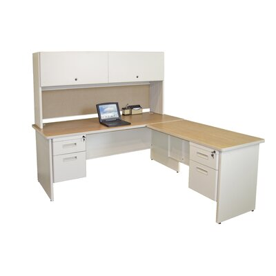 Marvel Office Furniture Pronto Computer Desk with Return and Pedestal