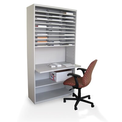 Marvel Office Furniture Mail Sorter Workstation with Adjustable Work Surface