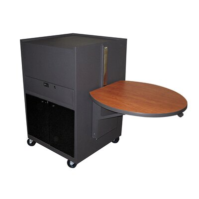 Marvel Office Furniture Zapf Office Support Media Center Cart with Acrylic Door