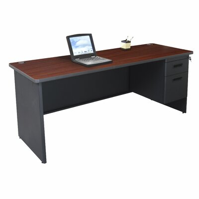 Marvel Office Furniture Pronto Single Pedestal with Modesty Panel Computer Desk