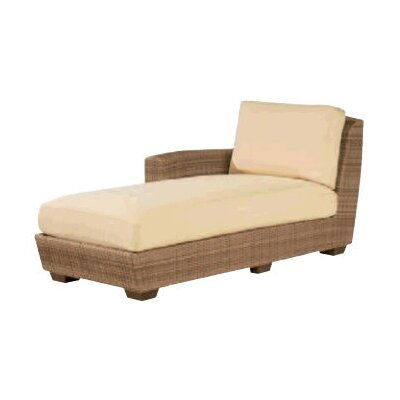 Whitecraft Saddleback Left Arm Chaise Lounge with Cushion
