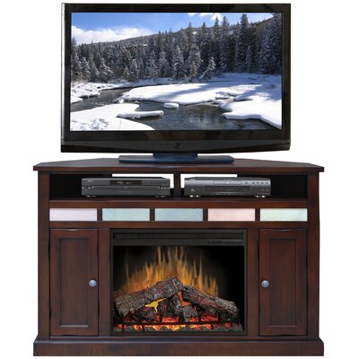 "Legends Furniture Fire Creek 56"" Corner TV Stand with Electric Fireplace"