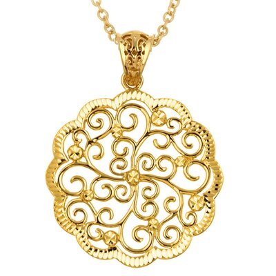 Sterling Essentials 14k Gold over Silver Seville Necklace