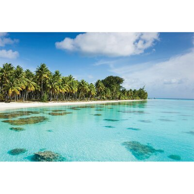Island Way Outdoor Bahama Blues Canvas Wall Art