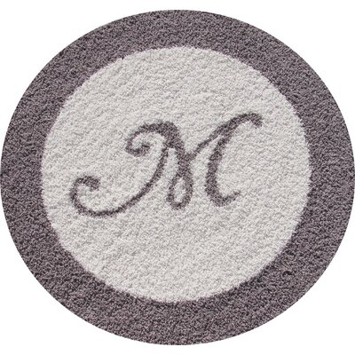 Creative Carpet Design Border Rug with Initial Inlay