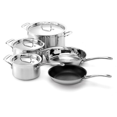 Le Creuset Tri-Ply Stainless Steel 8-Piece Cookware Set