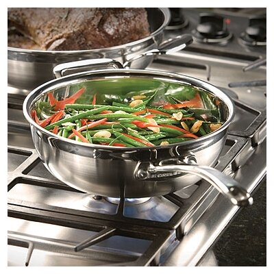 Stainless Steel 3.5-qt. Chef's Pan with Lid