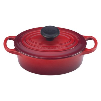 Signature 1-Qt. Cast Iron Oval Dutch Oven