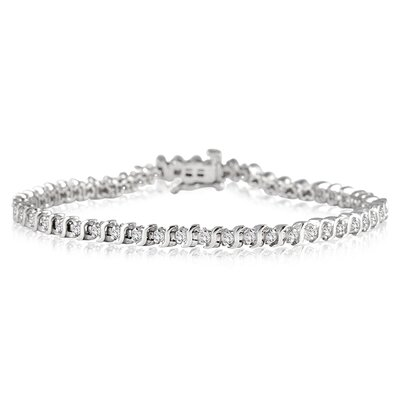 Round Cut Diamond S Tennis Bracelet