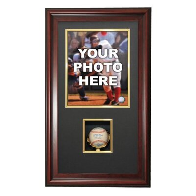 Caseworks International Vertical Photo and Baseball Shadow Box Display