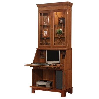 Jamestown Computer Secretary Desk with Hutch