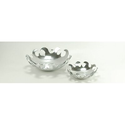 Aluminum Round Wavy Bowl (Set of 2)