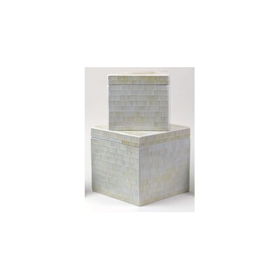 Modern Day Accents Mosaic Rustic Glass Box (Set of 2)
