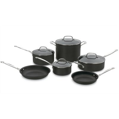 Cuisinart Chef's Classic Hard Anodized 10-Piece Cookware Set