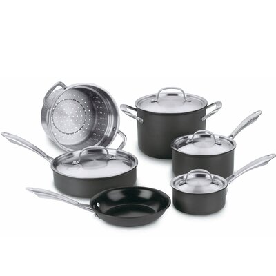 Cuisinart Green Gourmet Hard Anodized 10-Piece Cookware Set