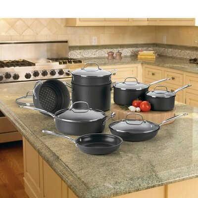 Cuisinart Chefs Classic Non-Stick Hard Anodized 14-Piece Cookware Set