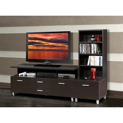 Element Entertainment Center with Wide Satellite Unit in Espresso