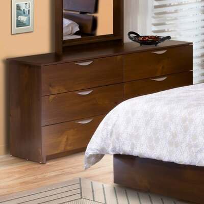 Nocce Truffle Double 6 Drawer Dresser