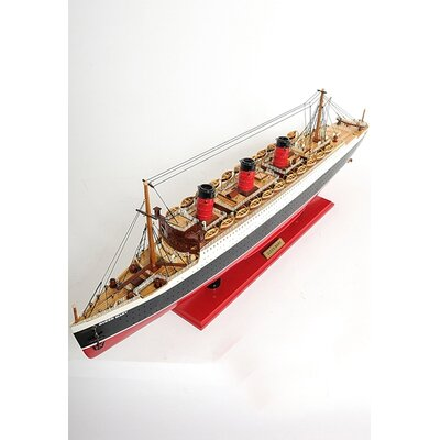 Old Modern Handicrafts Large Queen Mary Ship