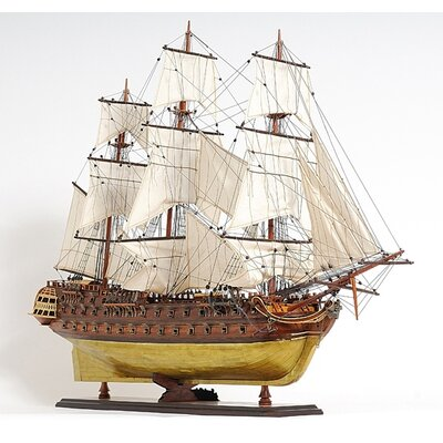 Old Modern Handicrafts Le Superbe Brass Bottom E.E. Frigate