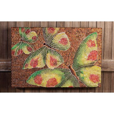 Glass Mosaic Butterfly Wall Decor