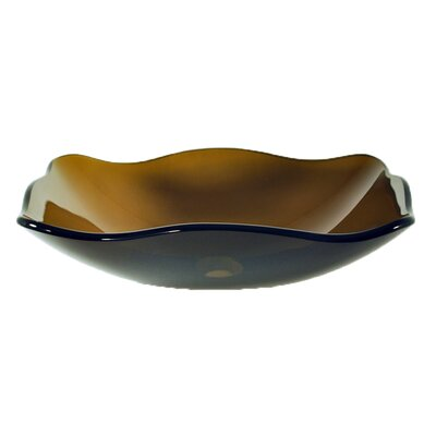 Oblong Glass Vessel Bathroom Sink - TIS-317