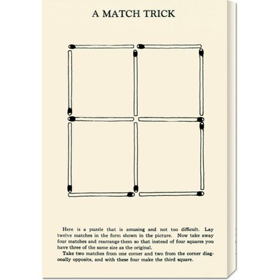 Global Gallery 'A Match Trick' by Retromagic Stretched Canvas Art