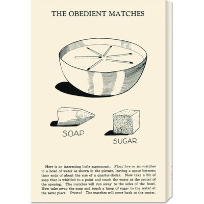 Global Gallery 'The Obedient Matches' by Retromagic Stretched Canvas Art