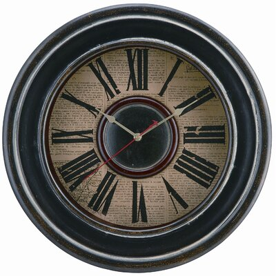 Mckenna Wall Clock in Distressed Black